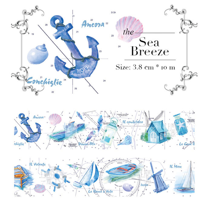 1 Roll Limited Edition Washi Tape - The Sea Breeze