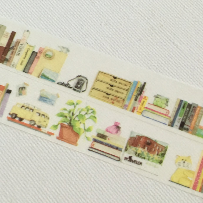 1 Roll Limited Edition Washi Tape: My Bookshelf