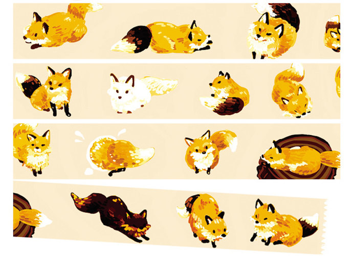 1 Roll of Limited Edition Washi Tape: Cute Fox