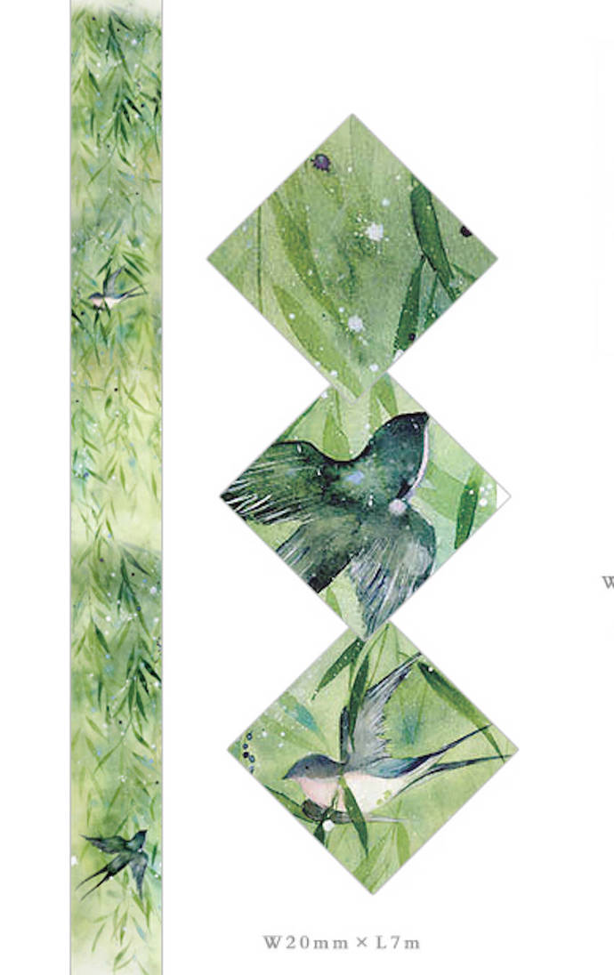 1 Roll Limited Edition Washi Tape: Swallow Spring Return