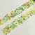 1 Roll of Limited Edition Washi Tape: Green and Flower Blossom
