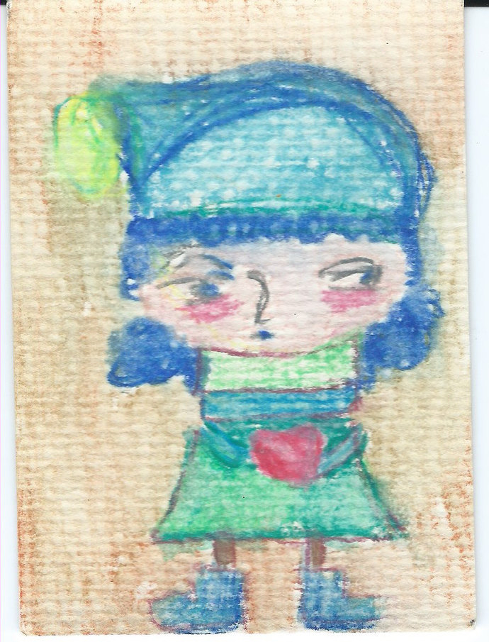 Original ACEO Watercolor Painting - Giving You My Heart