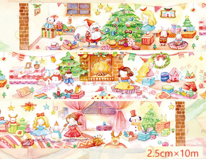 1 Roll of Limited Edition Washi Tape: Xmas Party of The Fairytale's Princesses