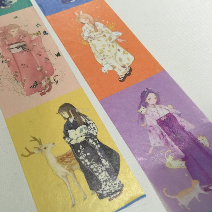 1 Roll of Limited Edition Washi Tape- Girls in Kimono