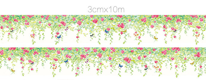 1 Roll of Limited Edition Washi Tape: Flower Wall