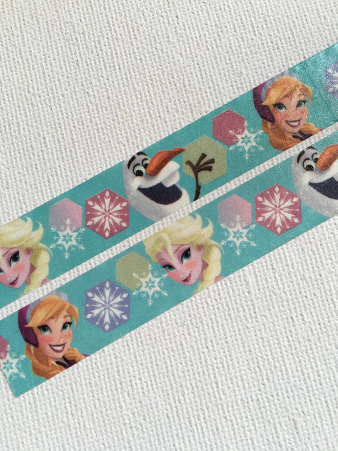 1 Roll Limited Edition Japanese Disney Washi Tape: Frozen Elsa, Anna, and