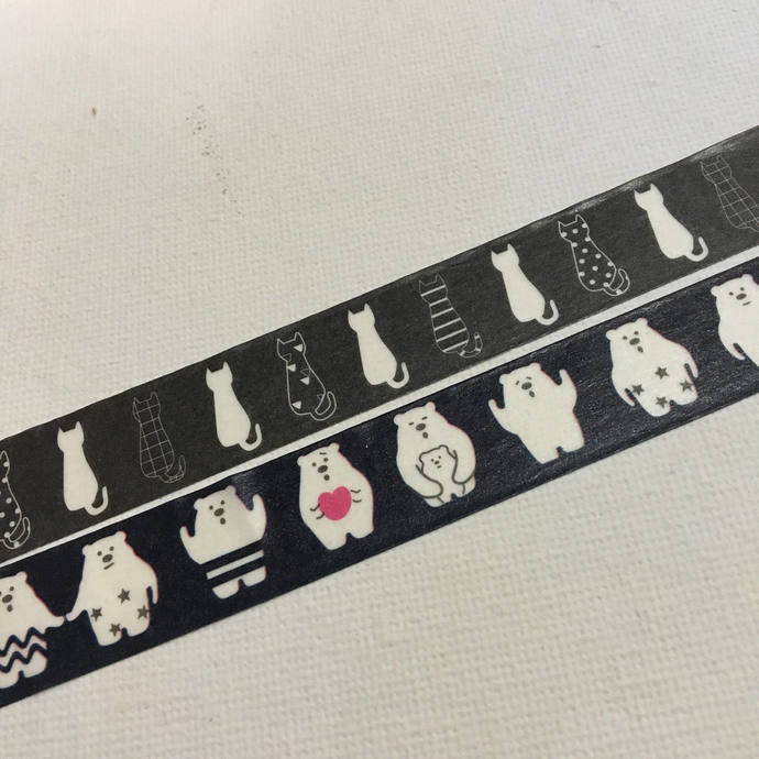 1 Roll of Washi Tape (Pick 1): Cat or Bear