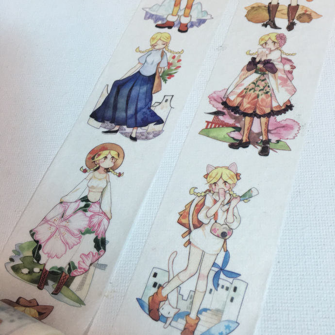 1 Roll of Limited Edition Washi Tape- The Great Travelers