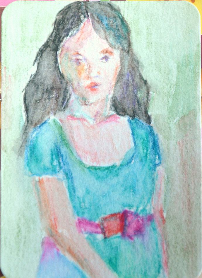 Original ACEO- A Lady