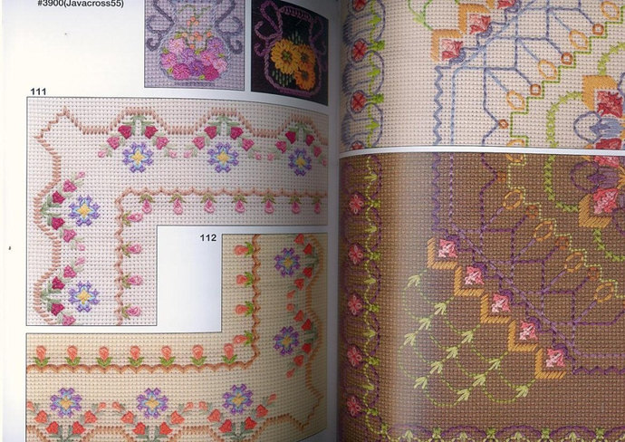 Embroidery motif and color composition by Sadako Totsuka Japanese Craft Book (In