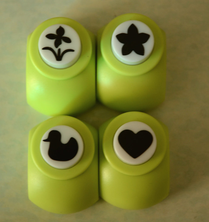 A Set of a Paper Punch (Pick 1)- Flower, Star-shaped Flower, Duck, OR Heart