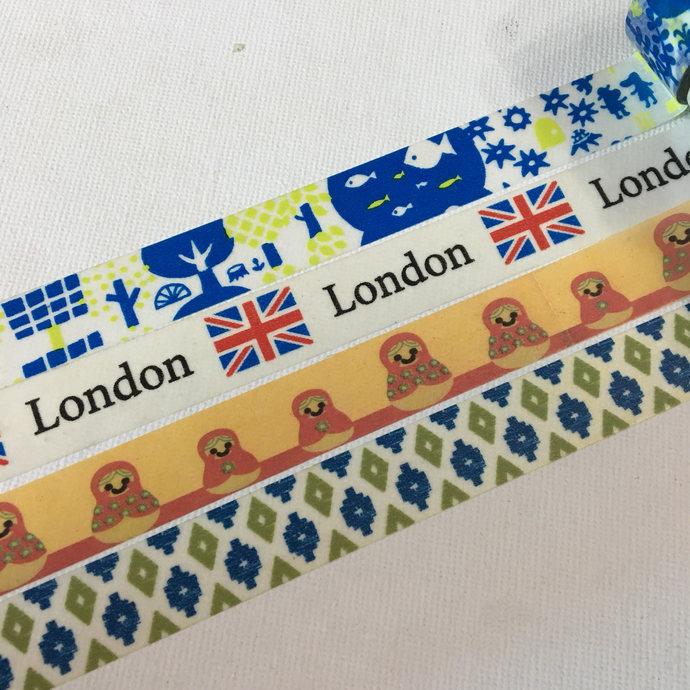 1 Roll of Washi Tape (Pick 1): Abstract Tree, London, Matryoshka Doll, or  Blue