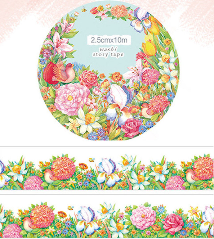 1 Roll Limited Edition Washi Tape: Godly Blessed Garden