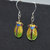 A Set of Cloisonne and Beaded Earrings - Cicada
