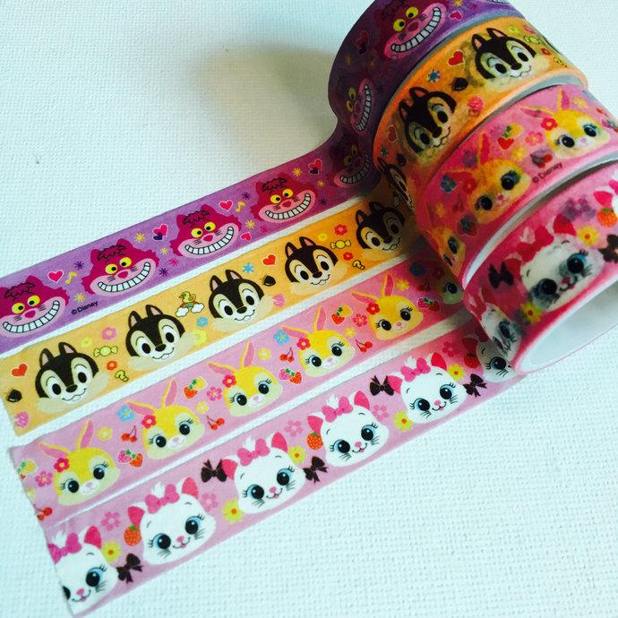1 Japanese Disney Tsum Tsum Washi Tape (Pick 1): The Cheshire Cat, Chip, Miss