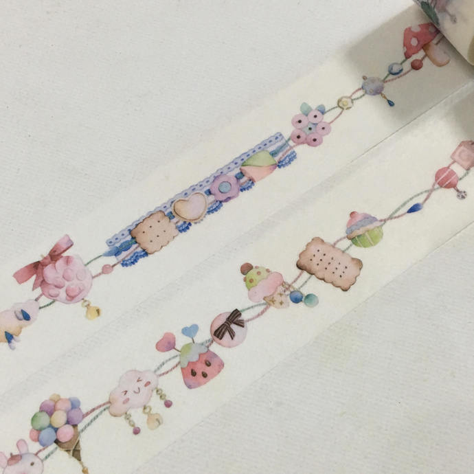 1 Roll  of Limited Edition Washi Tape- Delicious Sweets
