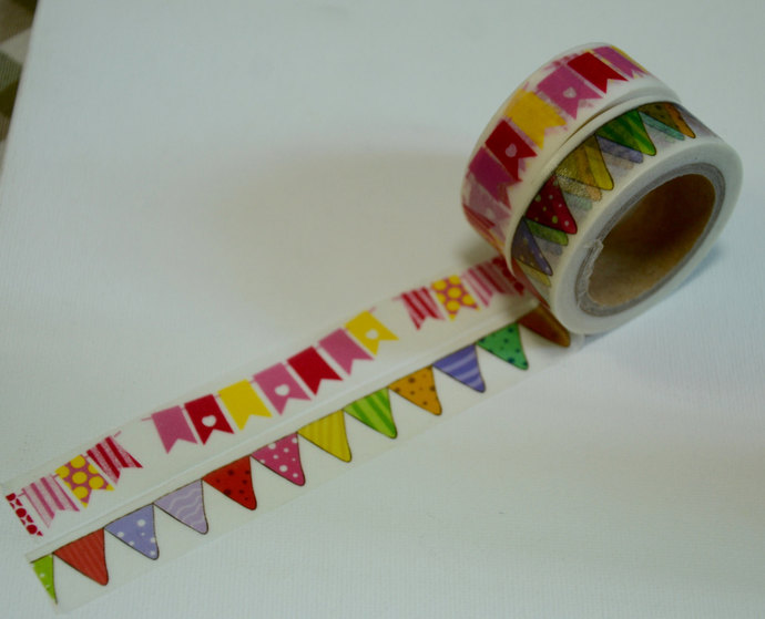 2 Rolls of Japanese Washi Tape Roll- Garland Party