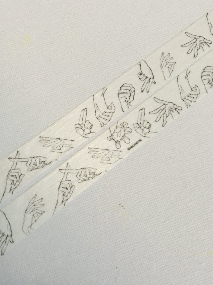 1 Roll of Limited Edition Washi Tape: Hand Gesture