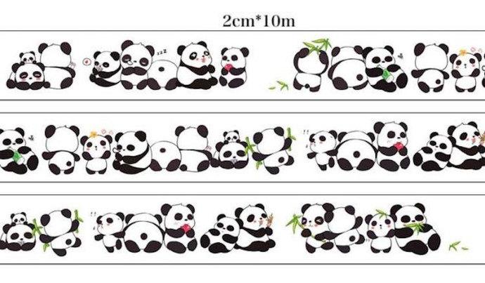 1 Roll Limited Edition Washi Tape-  CUTE Panda