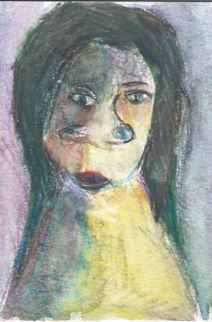 Original ACEO Watercolor Painting- My Unpleasant Teacher