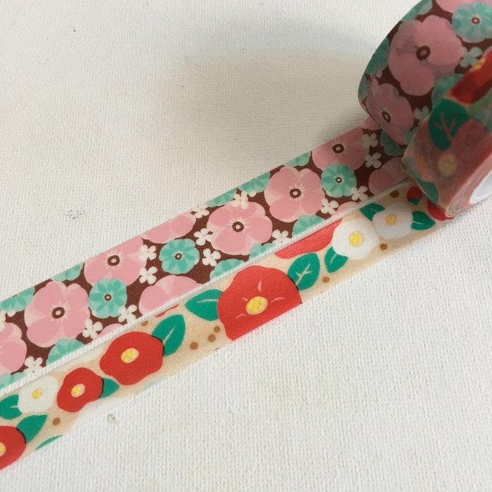 2 rolls of washi tape - Cute flowers