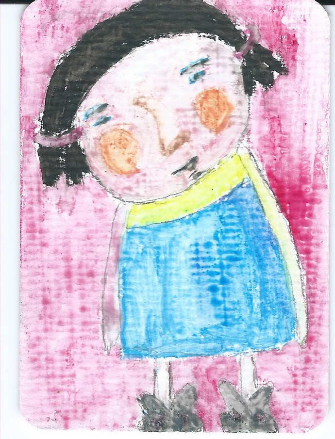 Original ACEO Watercolor Painting- My Childhood Neighbor