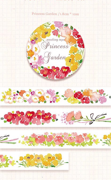 1 Roll of Limited Edition Washi Tape: Princess Garden