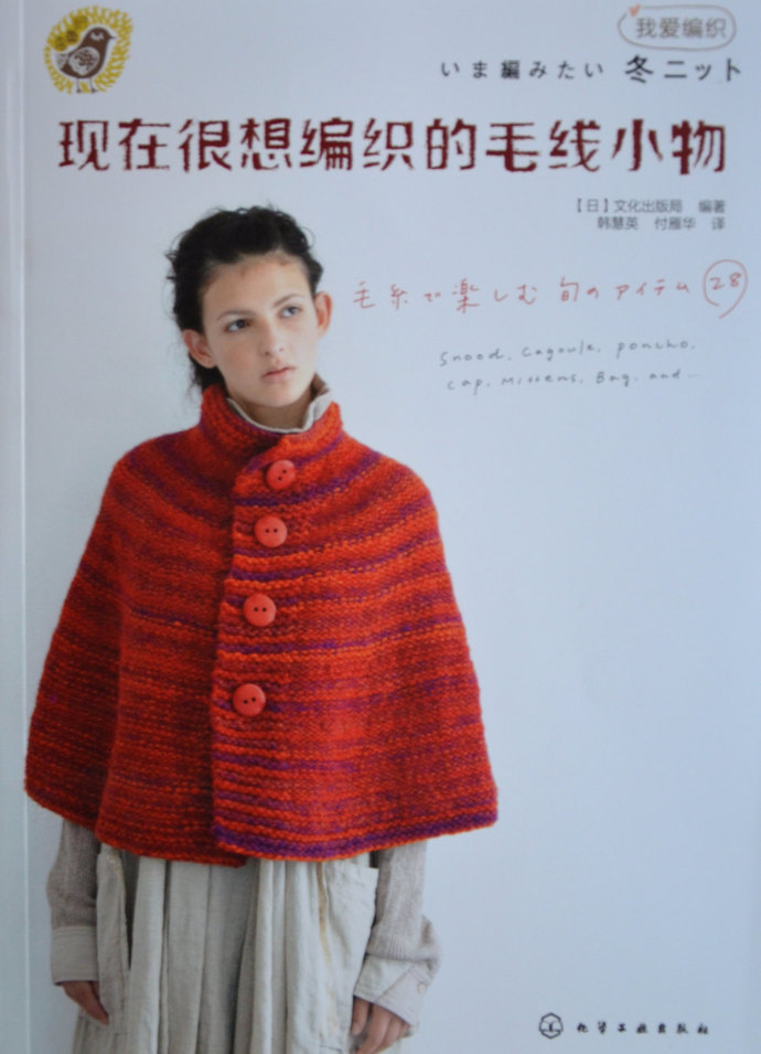 Stylish Winter Knit ,Snood, Poncho, Cagoule, Cap, Mittens, Bags- Japanese Craft