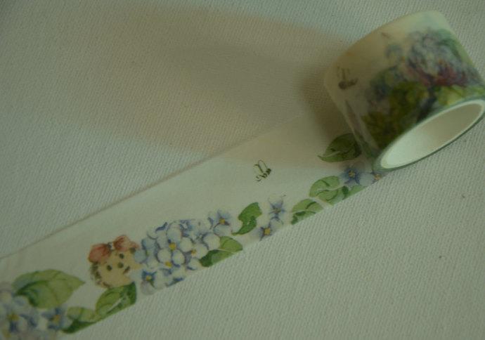 1 Roll of Japanese Washi Masking Tape- French hydrangea Flower