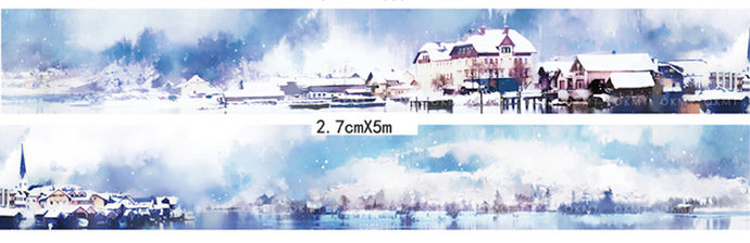 1 Roll of Limited Edition Washi Tape: Winter of Hallstatt