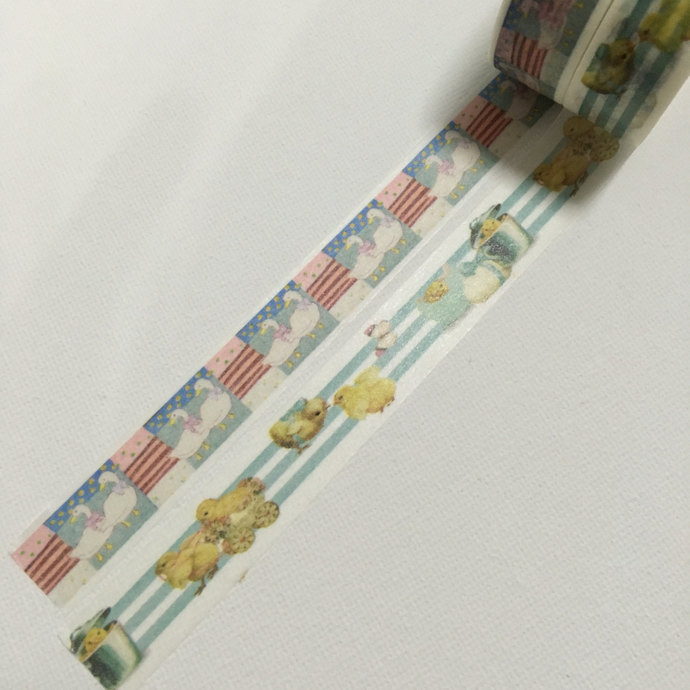 1 Roll Japanese Washi Tape (Pick 1) - Ducks or Chicks
