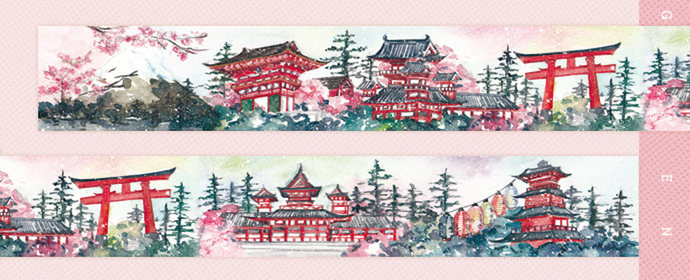 1 Roll of Limited Edition Washi Tape: Next Stop Japan