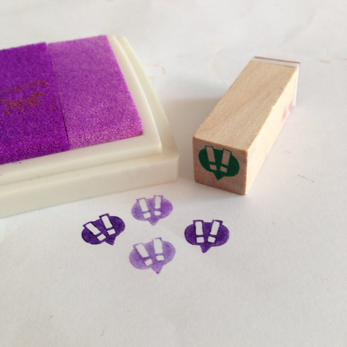A mini Wooden Rubber Stamp: Bubble !!