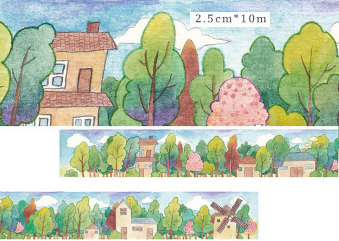 1 Roll Limited Edition Washi Tape: Windmill Town