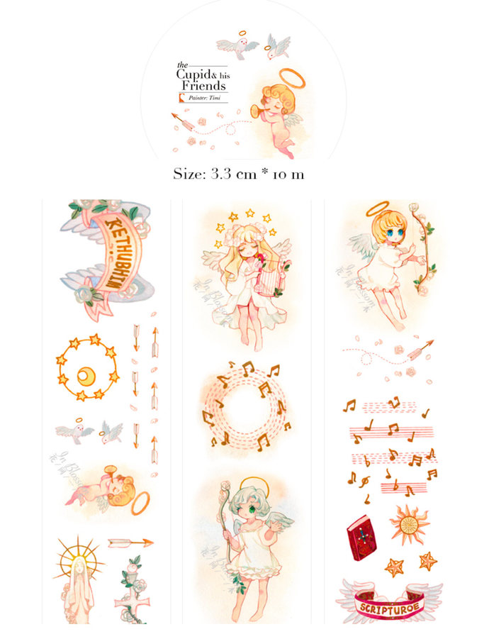 1 Roll Limited Edition Washi Tape: Cupids and his Friends
