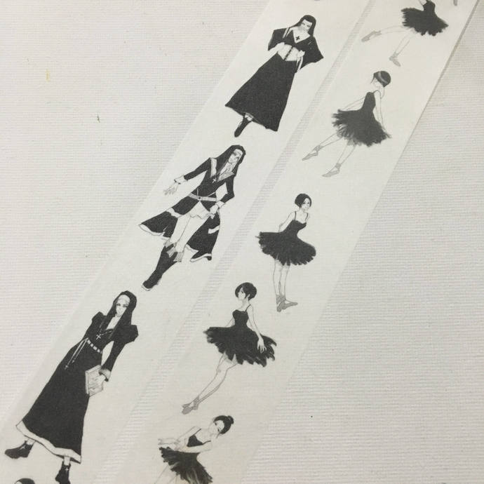 1 Roll of Limited Edition Washi Tape (Pick 1) : Nuns or Black Swan Dancer