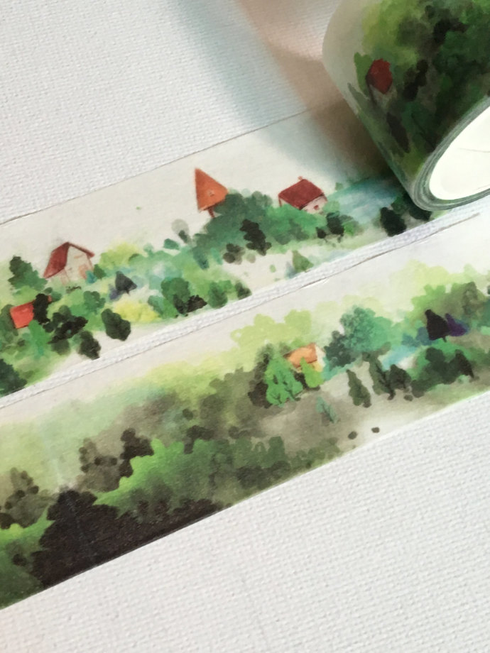 1 Roll of Limited Edition Washi Tape: Small Town in the Mist