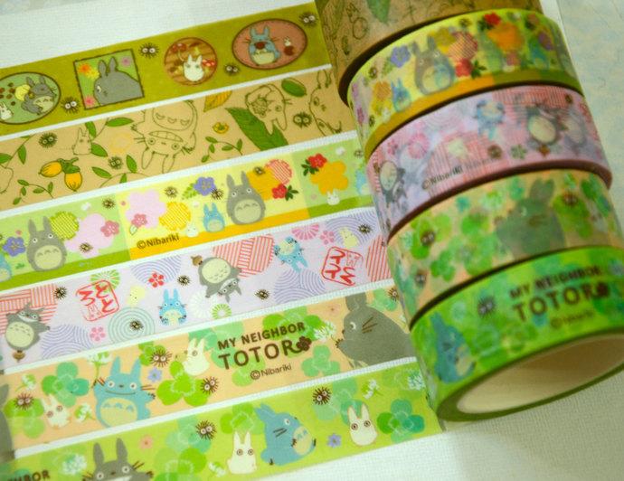 6 Rolls  Japanese Washi Masking Paper Tape : My Neighbor Totoro