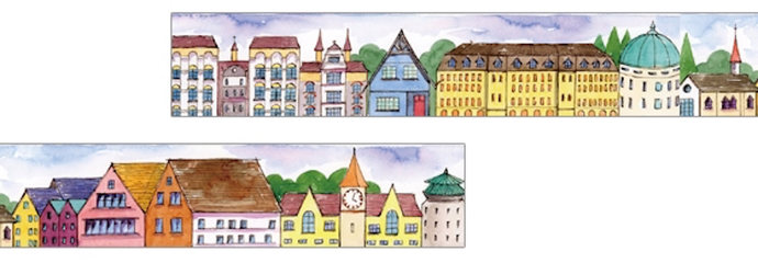 1 Roll of Limited Edition Washi tape: Nordic Architecture