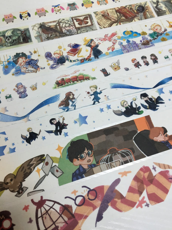 SAMPLE: 8 Designs of Lovely Harry Potter Theme Limited Edition Washi Tape (1m