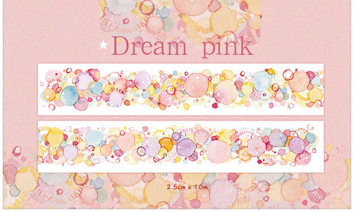 1 Roll of Limited Edition Washi Tape: Dream Pink