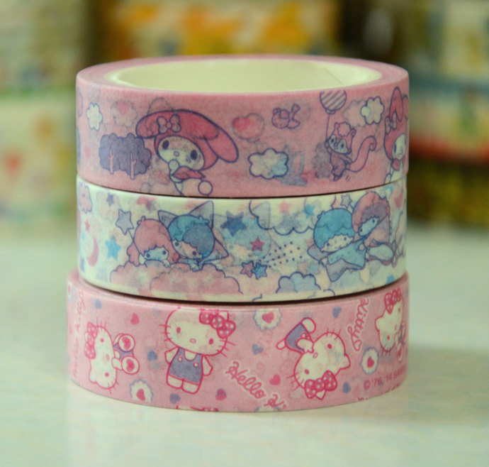 1 Roll of Japanese Washi Masking Tape (Pick 1) - My Melody, Little Twin Star, Or