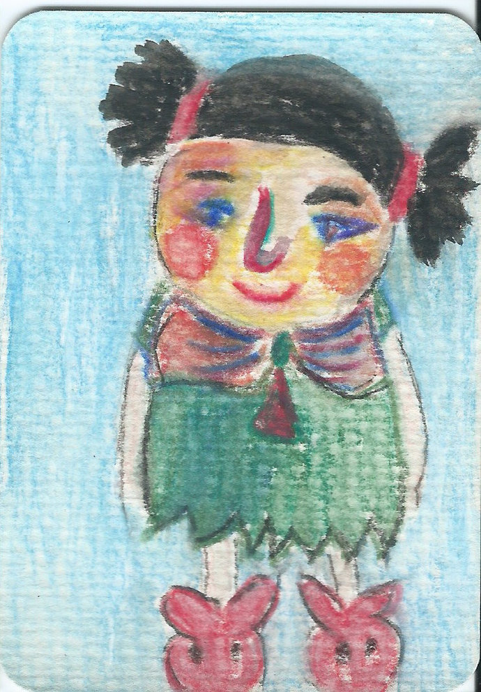 Original ACEO Watercolor Painting- My Older Sister