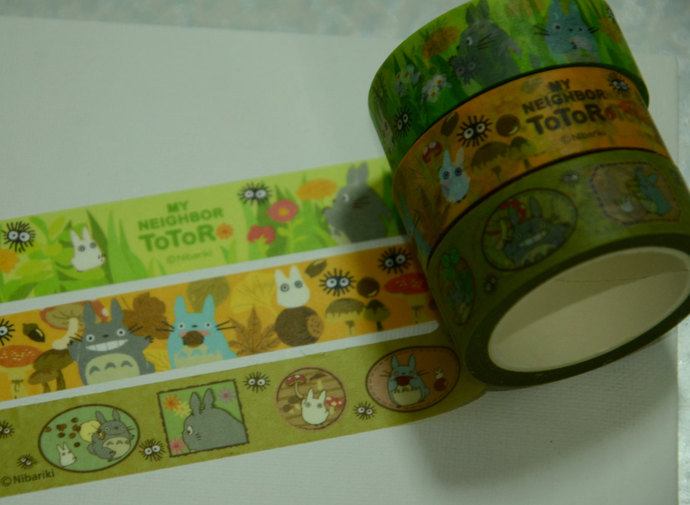 3 Rolls  Japanese Washi Masking Paper Tape : My Neighbor Totoro