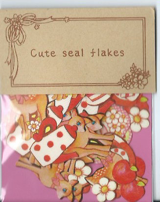 A Pack of 70 pcs 9 Designs Stickers Seal : Deer and High Tea