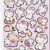 A Sheet of Japanese Paper Sticker (Pick 1) - Hello Kitty Or My Melody