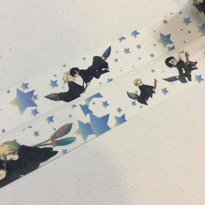 1 Roll Limited Edition Washi Tape - Harry Potter Quidditch wizarding sport