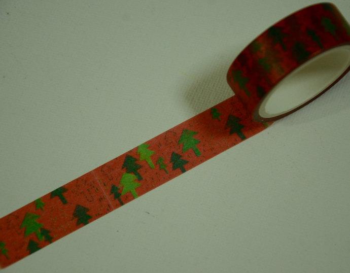1 Roll Japanese Washi Masking Paper Tape - Trees
