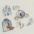 A Pack of 36 pcs 6 Designs Stickers Seal (Pick 1) : Rapunzel, Little Mermaid,