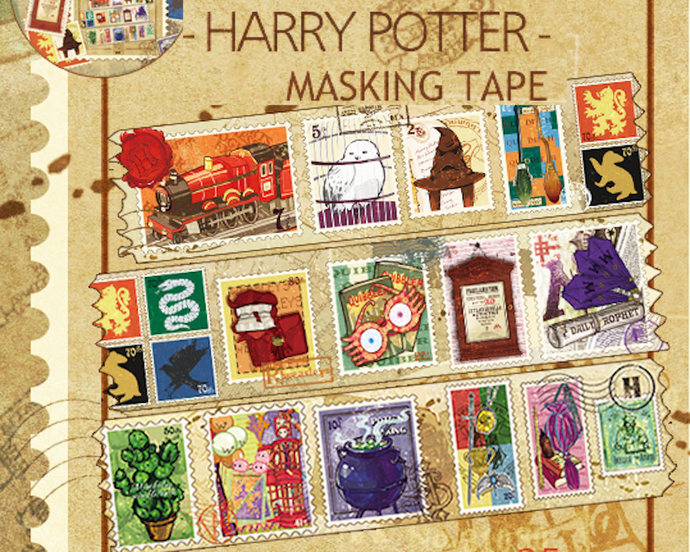 1 Roll of Washi Tape- Limited Edition Harry Potter Theme Illustration